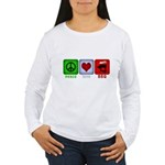 Peace Love and BBQ Women's Long Sleeve T-Shirt