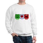 Peace Love and BBQ Sweatshirt
