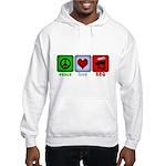 Peace Love and BBQ Hooded Sweatshirt