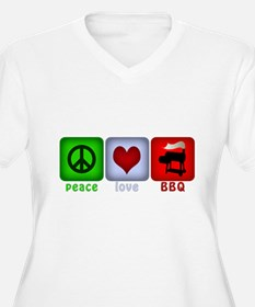 Peace Love and BBQ T-Shirt