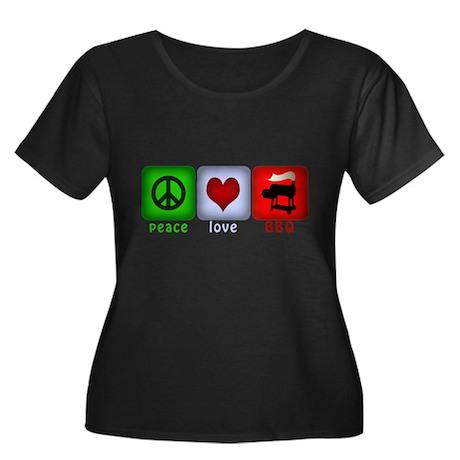 Peace Love and BBQ Women's Plus Size Scoop Neck Da