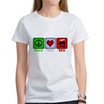 Peace Love and BBQ Women's T-Shirt