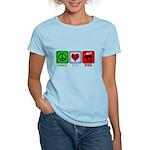 Peace Love and BBQ Women's Light T-Shirt