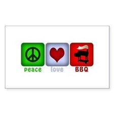 Peace Love and BBQ Decal