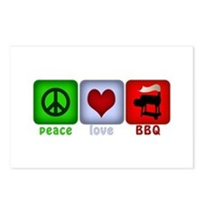 Peace Love and BBQ Postcards (Package of 8)