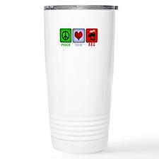 Peace Love and BBQ Travel Mug