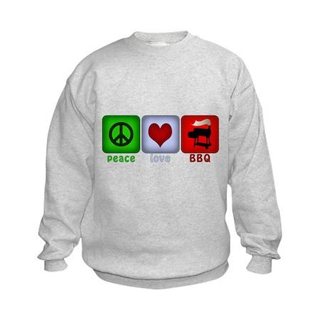 Peace Love and BBQ Kids Sweatshirt