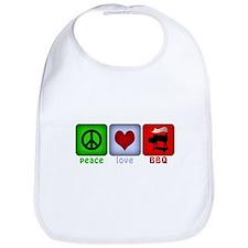 Peace Love and BBQ Bib