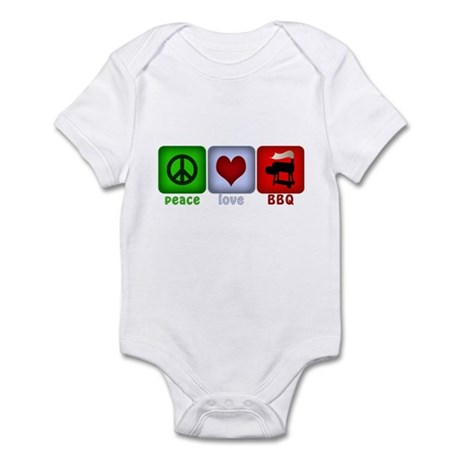 Peace Love and BBQ Infant Bodysuit