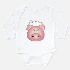 Cute Princess pig Long Sleeve Infant Bodysuit