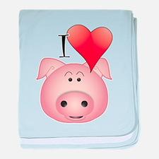 Unique Pig baby blanket