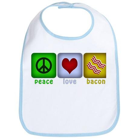 Peace Love and Bacon Bib