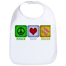 Peace Love and Bacon Bib