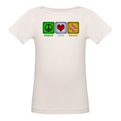 Peace Love and Bacon Organic Baby T-Shirt