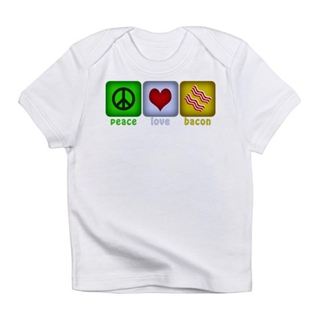 Peace Love and Bacon Infant T-Shirt