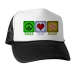 Peace Love and Bacon Trucker Hat