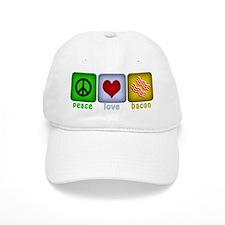 Peace Love and Bacon Baseball Cap