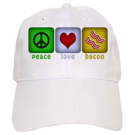 Peace Love and Bacon Cap