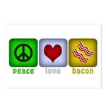 Peace Love and Bacon Postcards (Package of 8)