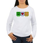 Peace Love and Bacon Women's Long Sleeve T-Shirt