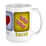 Peace Love and Bacon Large Mug