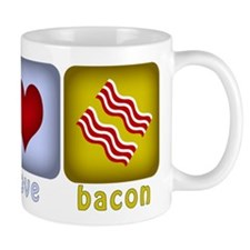 Peace Love and Bacon Mug