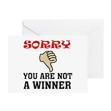 NOT A WINNER Greeting Card