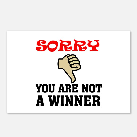 NOT A WINNER Postcards (Package of 8)