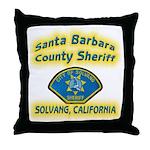 Solvang Police Throw Pillow
