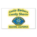 Solvang Police Sticker (Rectangle 50 pk)