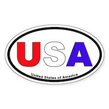 USA Color Oval Bumper Stickers