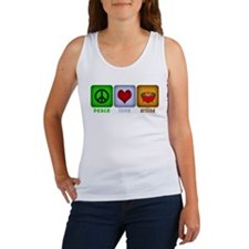 Peace Love and Grilling Women's Tank Top