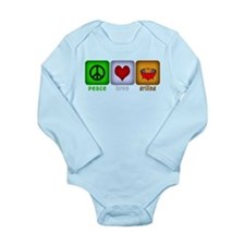 Peace Love and Grilling Long Sleeve Infant Bodysui