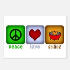 Peace Love and Grilling Postcards (Package of 8)