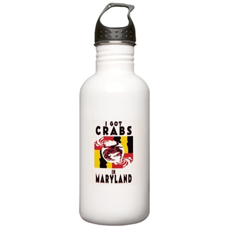 I Got Crabs in Maryland Stainless Water Bottle 1.0