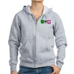 Peace Love and Donuts Women's Zip Hoodie