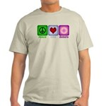 Peace Love and Donuts Light T-Shirt