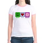 Peace Love and Donuts Jr. Ringer T-Shirt