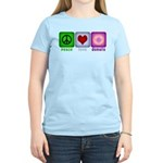 Peace Love and Donuts Women's Light T-Shirt