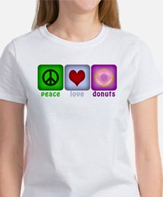 Peace Love and Donuts Tee