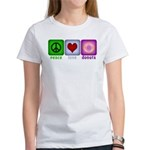 Peace Love and Donuts Women's T-Shirt