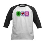 Peace Love and Donuts Kids Baseball Jersey
