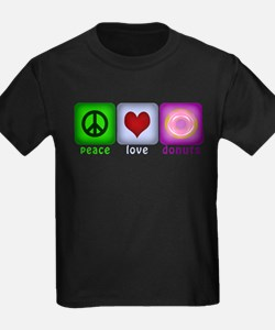 Peace Love and Donuts T