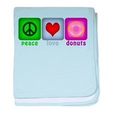 Peace Love and Donuts baby blanket