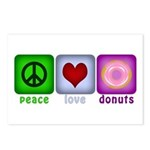 Peace Love and Donuts Postcards (Package of 8)