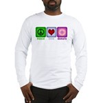 Peace Love and Donuts Long Sleeve T-Shirt