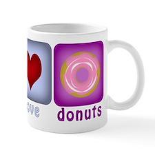 Peace Love and Donuts Mug