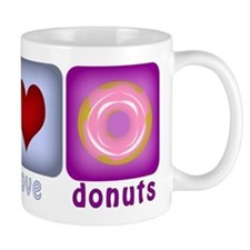 Peace Love and Donuts Mug
