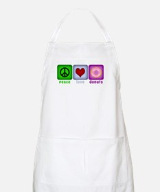 Peace Love and Donuts Apron