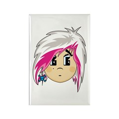 Cute Emo Punk Girl Rectangle Magnet (100 pack)